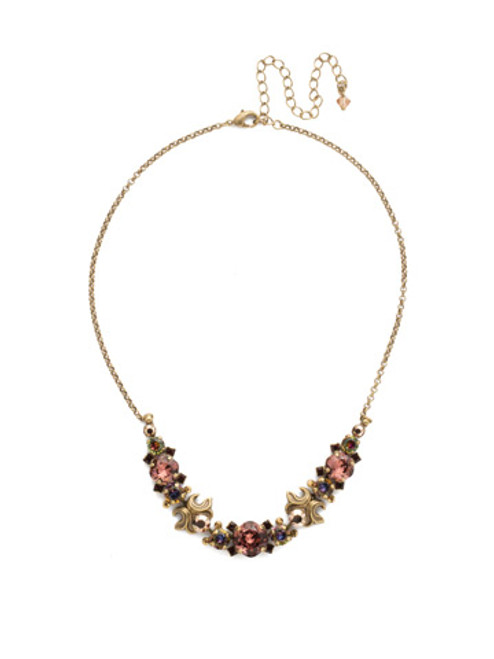 Mahogany Crystal Statement Necklace~NDQ15AGM
