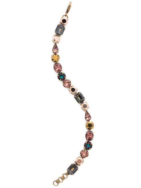 pretty Mahogany Crystal Bracelet