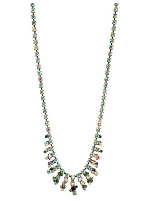 Sorrelli Smitten Crystal Necklace NBT14AGSMI