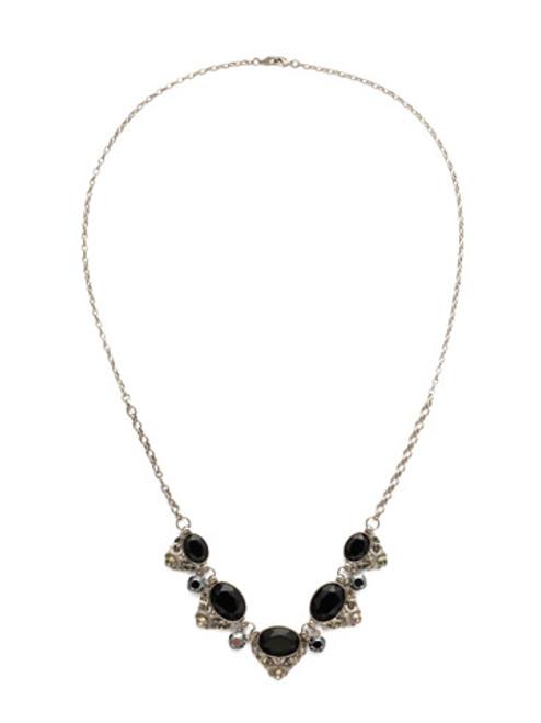 Sorrelli Black Onyx Crystal Necklace ndq12asbon