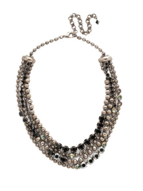 Sorrelli Black Onyx Jessamine Crystal Necklace ~NDQ5ASBON