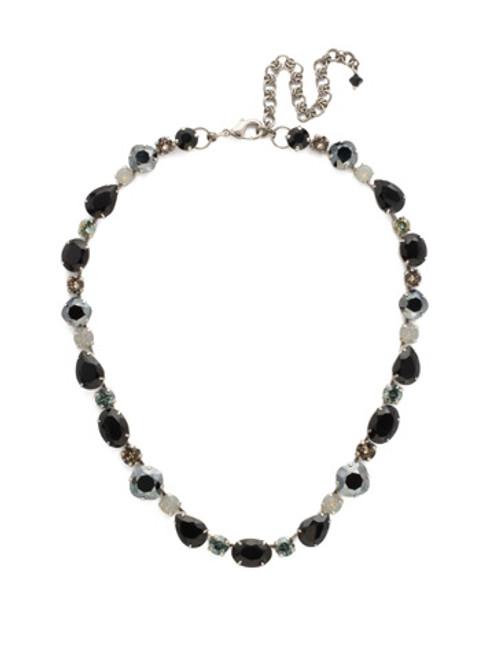 Sorrelli Black Onyx Crystal Necklace ndq37asbon