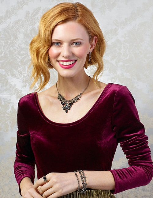 sorrelli black onyx crystal necklace ndq4asbon