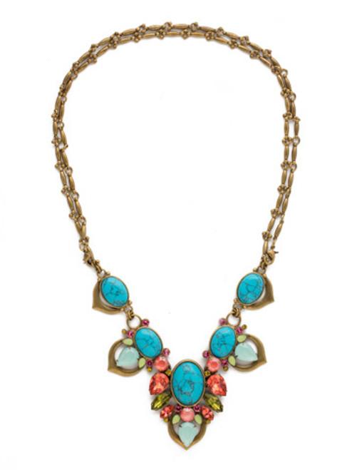 Sorrelli Botanical Brights Crystal Necklace ndr8agbot
