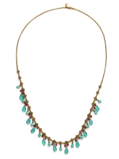 Sorrelli Botanical Brights Crystal Necklace ndr15agbot