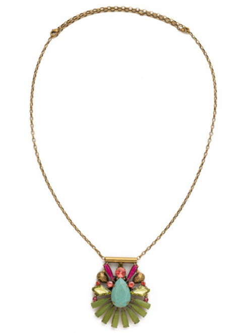 Sorrelli Botanical Brights Crystal Necklace ndk25agbot