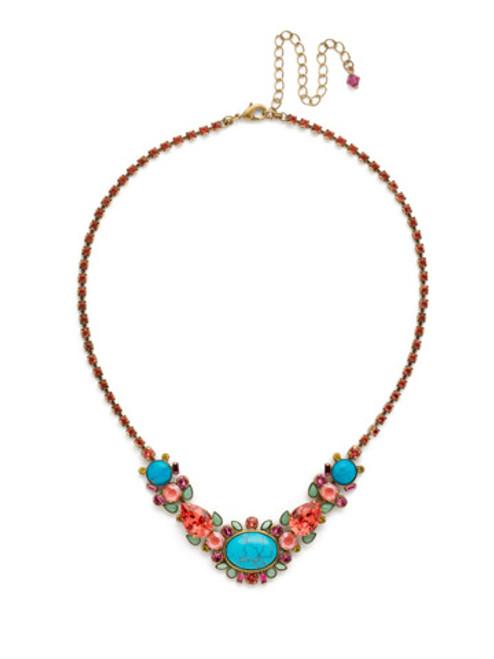 Sorrelli Botanical Brights Crystal Necklace