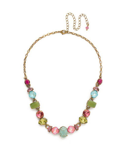 Sorrelli Botanical Brights Crystal Necklace ndk32agbot