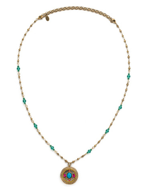 Sorrelli Botanical Brights Crystal Necklace NDK3AGBOT
