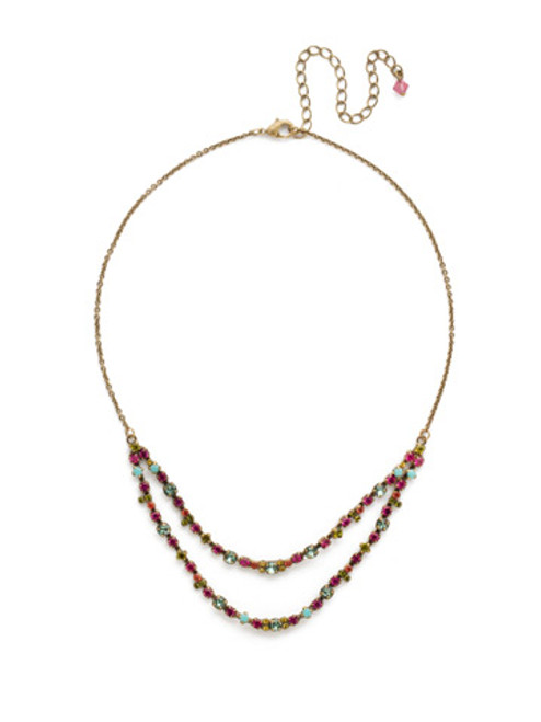 Sorrelli Botanical Brights Crystal Necklace ndr1agbot
