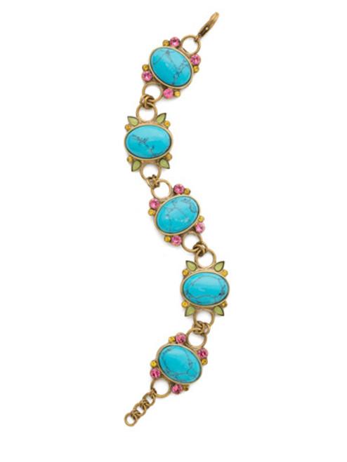 Sorrelli Botanical Brights Crystal Bracelet BDR8AGBOT