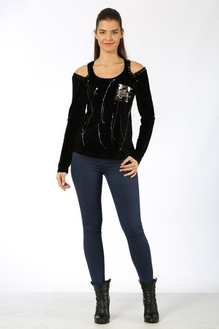 ZARGA Embellished Long Sleeve Top ZR01