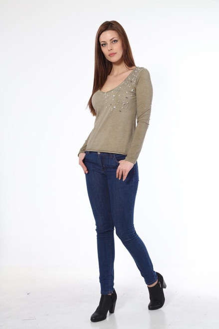 ZARGA Embellished Long Sleeve Top ZR05