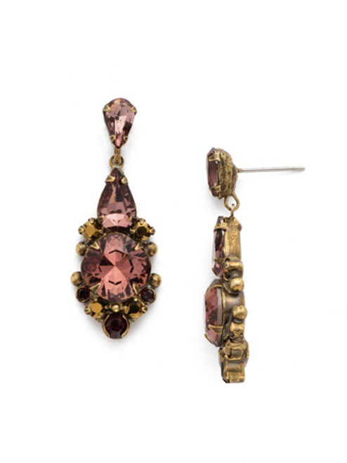 Sorrelli Mahogany Crystal Earrings edq2agm