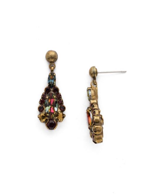 Mahogany Crystal Earrings EDQ30AGM