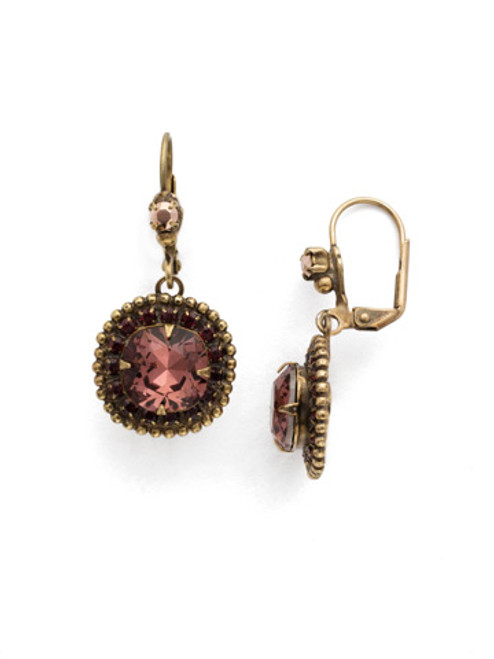 Mahogany Crystal Earrings EDK4AGM