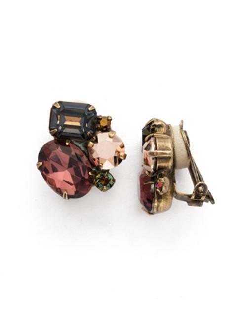 Mahogany Crystal Earrings~EDN71CAGM
