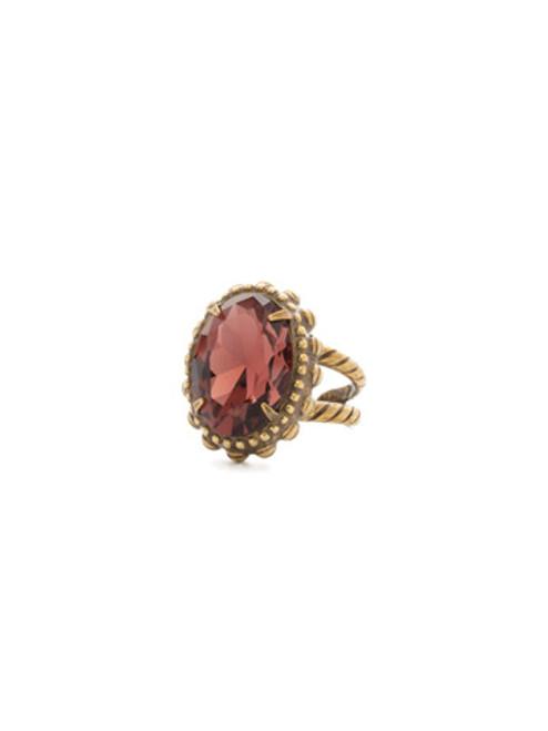 Mahogany Crystal Ring RDQ7AGM