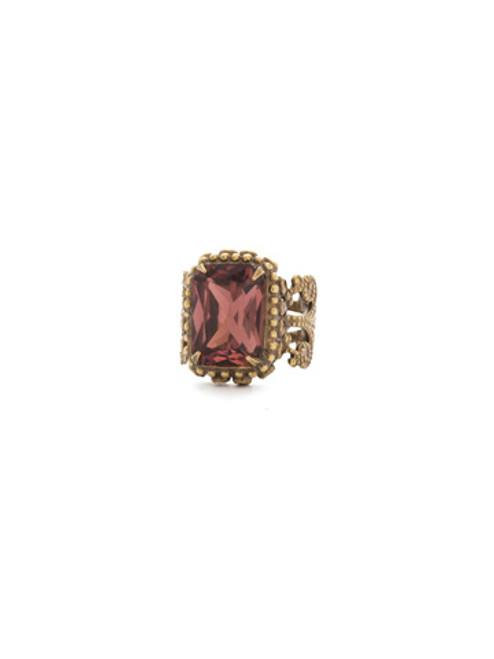mahogany crystal ring rdq17agm