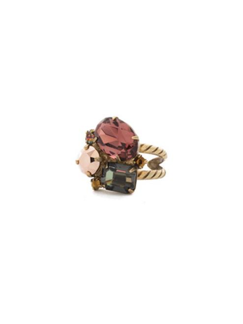 Mahogany Crystal Ring RDN71AGM