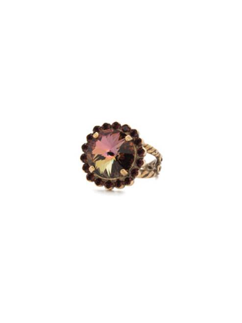 Sorrelli Mahogany Crystal Ring
