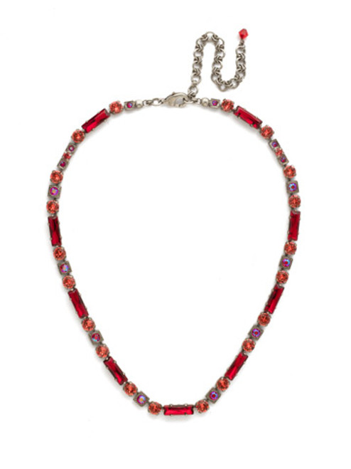 Red Ruby Crystal Necklace NCD66ASRRU