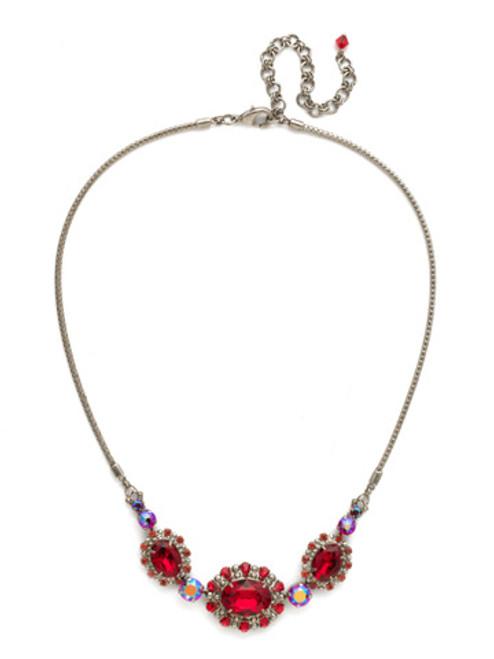 Red Ruby Crystal Necklace NCK11ASRRU