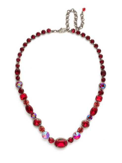Red Ruby Crystal Necklace NDQ65ASRRU
