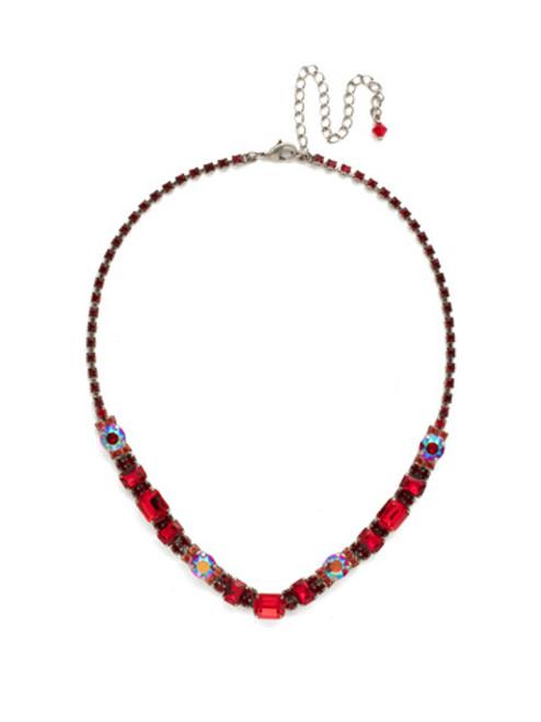 Red Ruby Crystal Necklace NDH14ASRRU