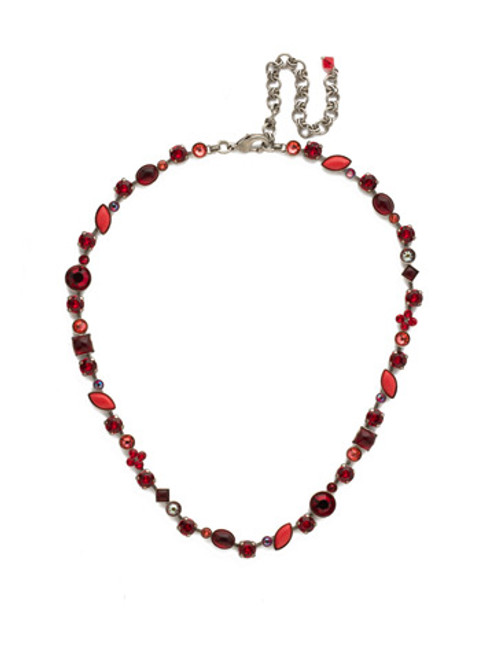 Red Ruby Crystal Necklace NAQ3ASRRU