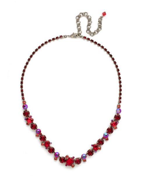Red Ruby Crystal Necklace NDK17ASRRU