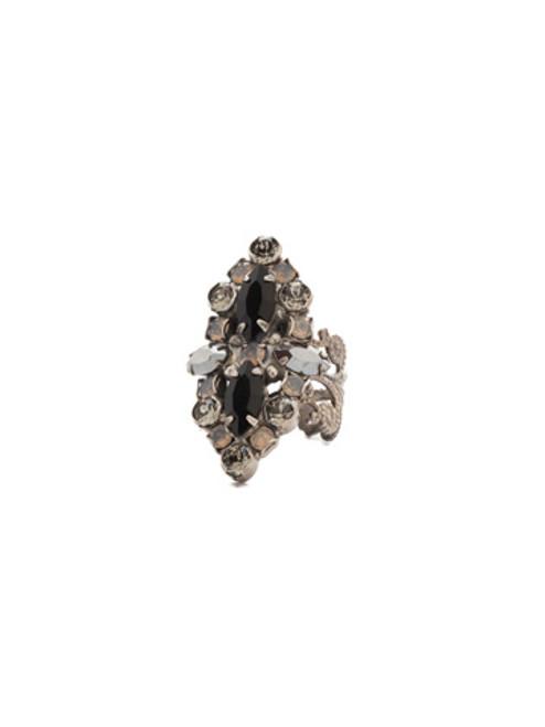 Sorrelli Black Onyx- Edelweiss Ring ~ RDQ30ASBON