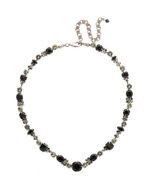 Sorrelli Black Onyx Crystal Necklace ncd2asbon