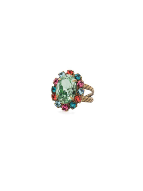 Sorrelli Happy Birthday Crystal Ring