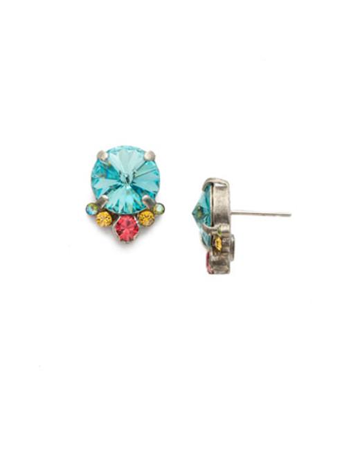 Sorrelli Vivid Horizon Crystal Antique Silver Earrings