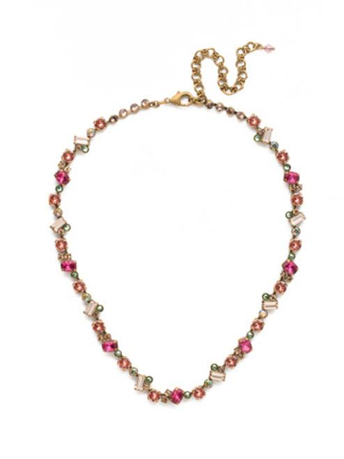 Sorrelli Radiant Sunrise Crystal Necklace NDS17AGRS