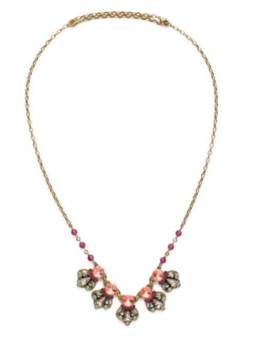 Sorrelli Radiant Sunrise Crystal Necklace nds21agrs