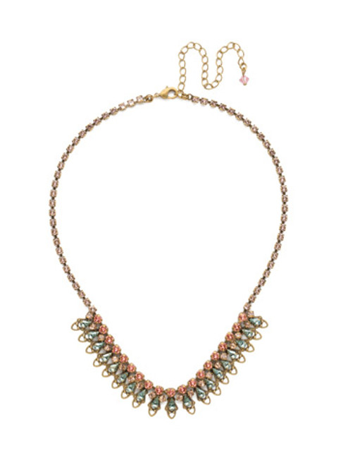 Sorrelli Radiant Sunrise Crystal Necklace nds33agrs