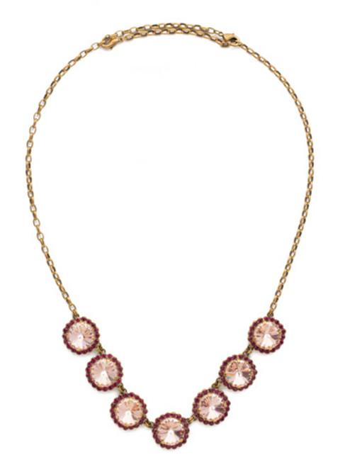 sorrelli radiant sunrise crystal necklace nds42agrs