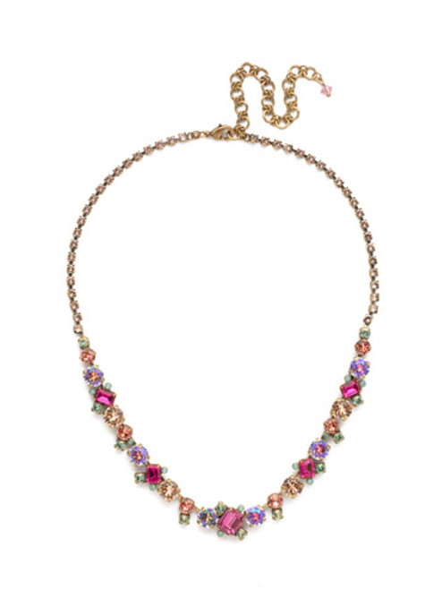 sorrelli radiant sunrise crystal necklace ndk17agrs