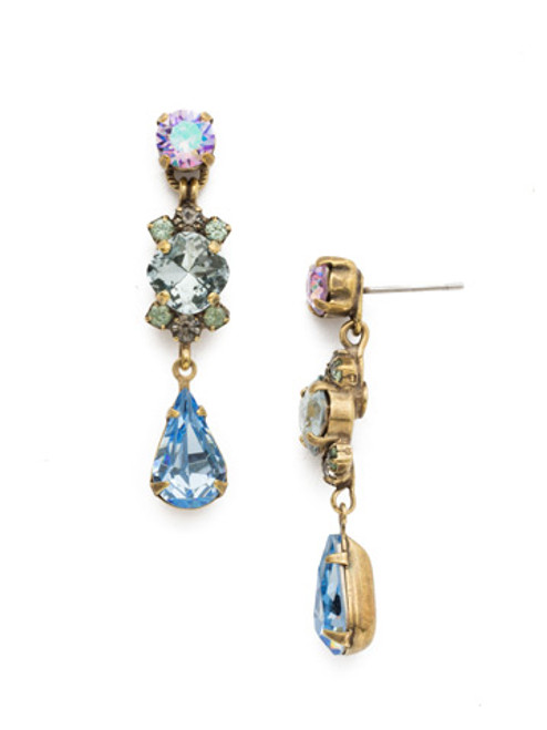 Sorrelli Washed Waterfront Crystal Earrings EDS1AGWW
