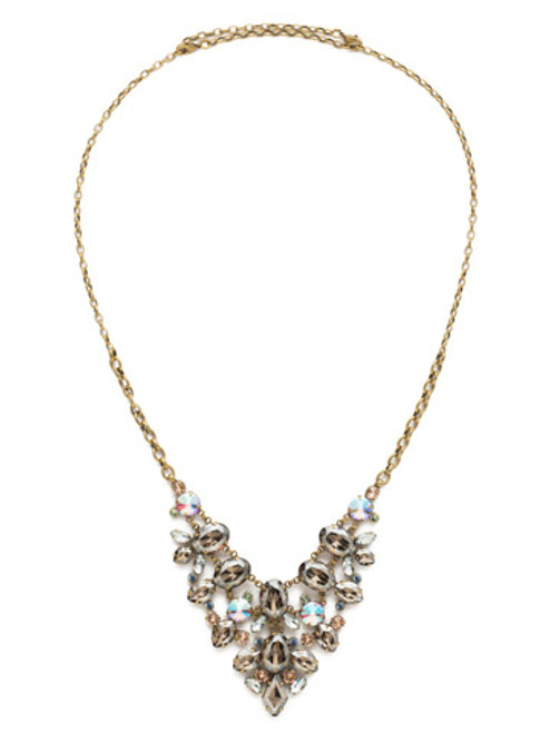 Sorrelli Washed Waterfront Crystal Necklace NDS43AGWW