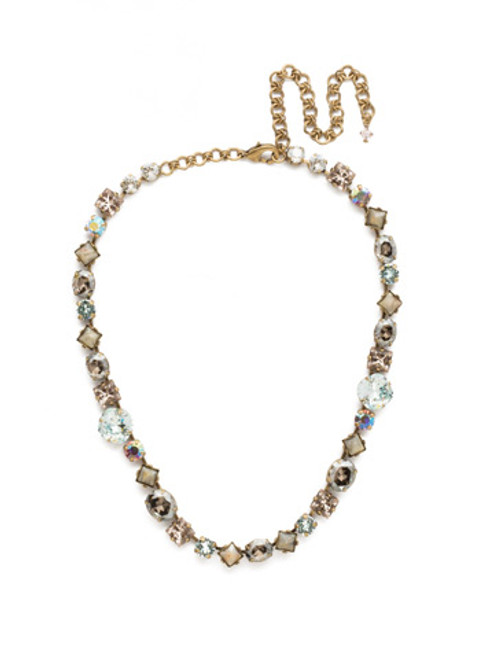 Sorrelli Washed Waterfront Crystal Necklace NCP36AGWW