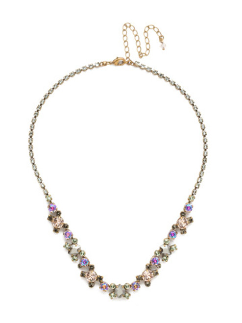 Sorrelli Washed Waterfront Crystal Necklace NDK11AGWW
