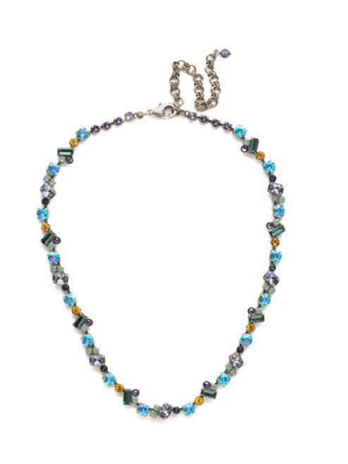 Sorrelli Moonlit Shore Crystal Necklace nds17asmls