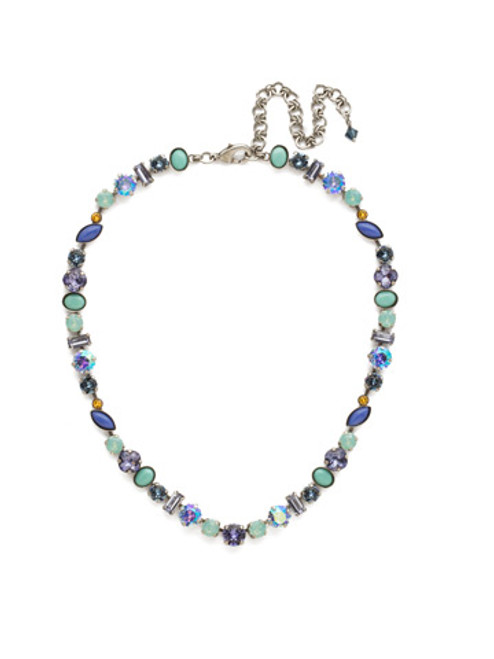 Sorrelli Moonlit Shores Crystal Necklace NDR16ASMLS