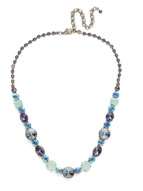Sorrelli Moonlit Shore Crystal Necklace ncp38asmls
