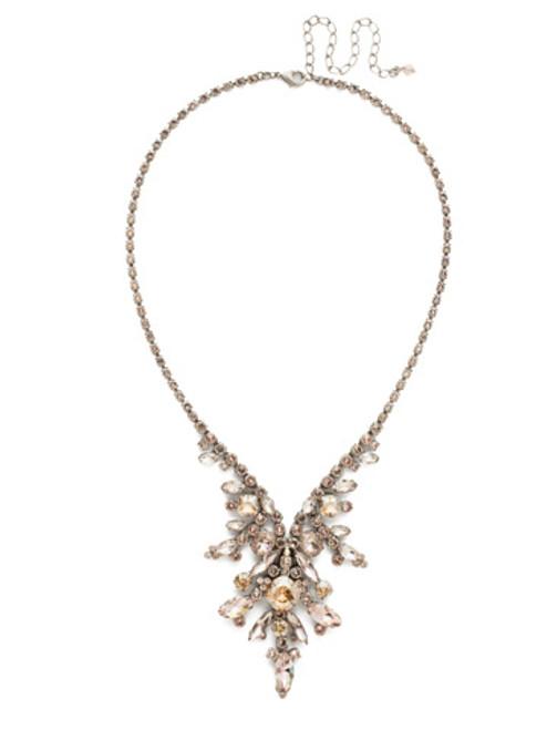 Sorrelli Satin Blush Crystal Necklace NDT16ASSBL