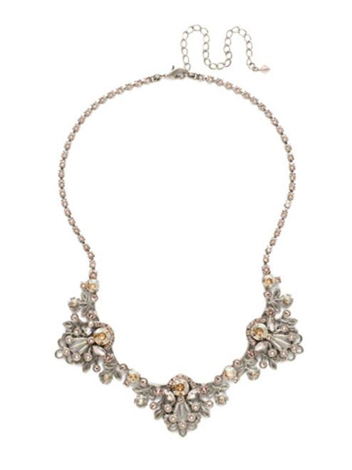 Sorrelli Satin Blush Crystal Necklace NDT18ASSBL
