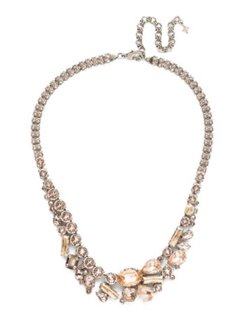 Sorrelli Satin Blush Crystal Necklace NDM52ASSBL